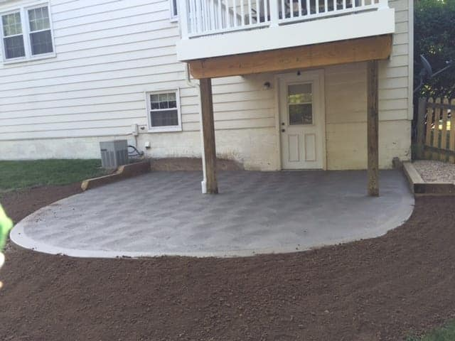 concrete hardscape designed by allscapes oh