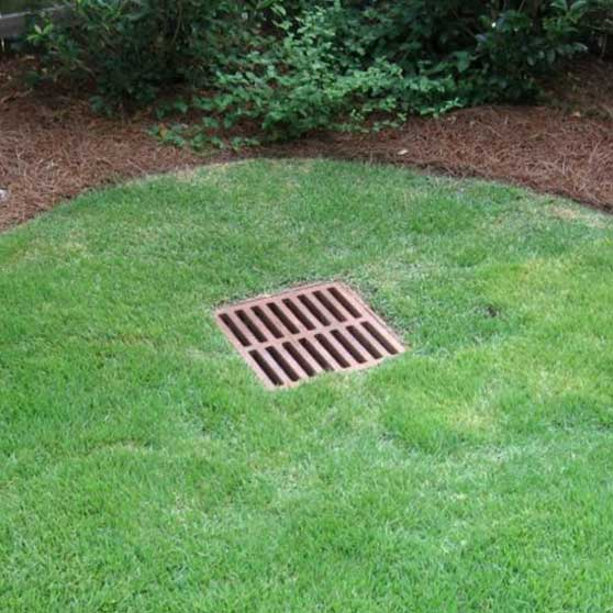Drainage services for Hudson and Stow Ohio | Drain in Residential Yard to Prevent Flooding